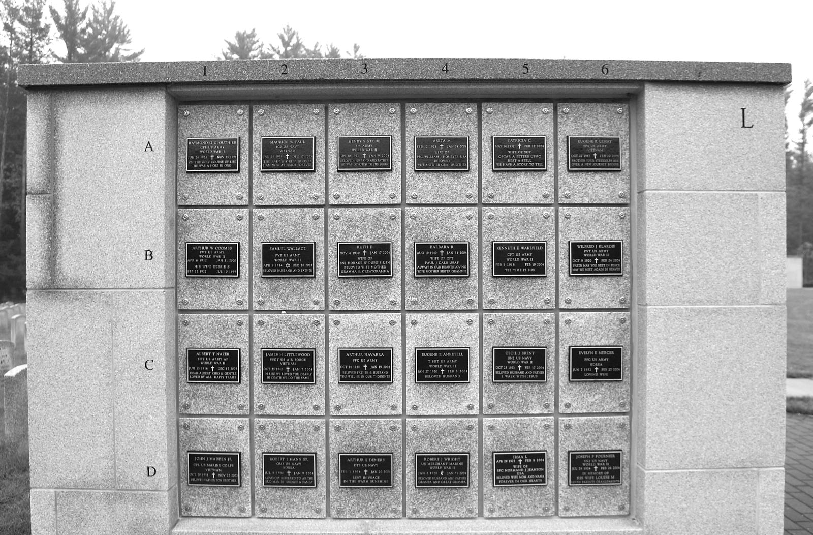 What is a Columbarium? A structure of vaults for placement of cremains